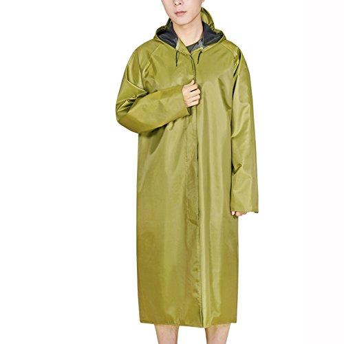 Huifang Vêtements de pluie QFFL Imperméable Une pièce Coupe-Vent épais Imperméable Long Adulte Imperméable extérieur Travail Assurance Poncho Imperméable Taille en Option imperméable (Taille : XXL)