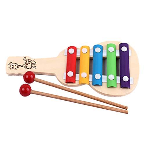 MILISTEN Xylophon Musikinstrumente Gitarrenform Xylophon Musikinstrumente Holz Percussion Spielzeug für Kleinkinder Kinder