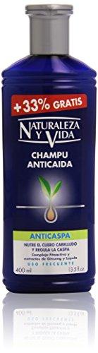 Natuur en leven shampoo tegen haaruitval, voedt de hoofdhuid en reguleert de roos - 400 ml