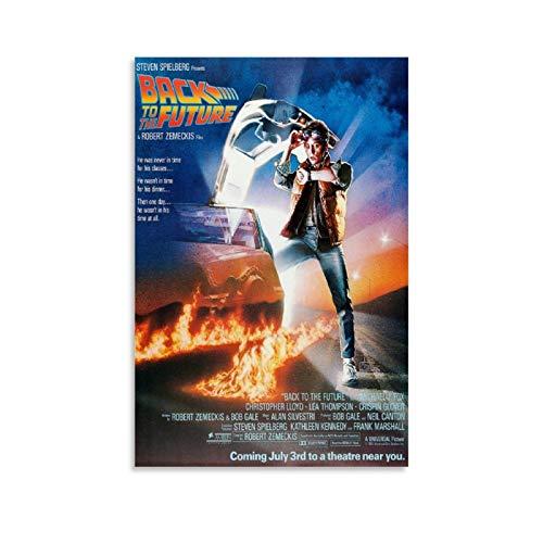 OMG Printing Classic 80er Zurück in die Zukunft McFly Michael J Fox, Filmposter, Kunstdruck, Leinwand, Wandkunst, Wohnzimmer, Poster, Schlafzimmer, Malerei, 50 x 75 cm