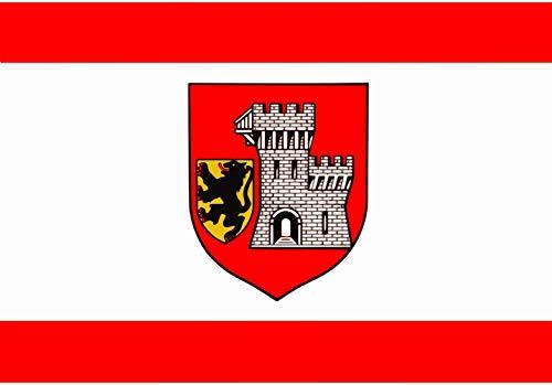 magFlags Drapeau XL Grevenbroich | Das Banner der Stadt Grevenbroich ist Rot-Weiß-Rot im Verhältnis 1 4 1 längsgestreift mit dem etwas über Die Mitte nach Oben verschobenen Wappen