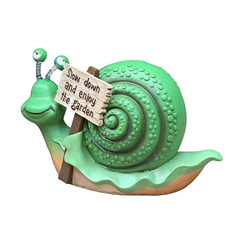 LIUSHI Garden Snail Statue, Snail Sculpture Garden Ornament Animal Cartoon Statue Lawn Decoration Welcome Sign Housewarming Gift