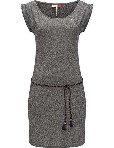 Ragwear Damen Kleid Sommerkleid Baumwollkleid Jersey-Kleid Tag Dark Grey21 Gr. M