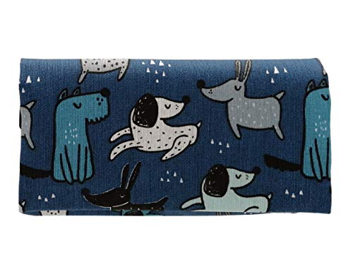 Plan B, Pitillera Tabaco de Liar, Yolo Perretes 1, 16 x 8,5 cm, 50 g, con Bolsa Interior Goma Eva, Azul con Dibujos