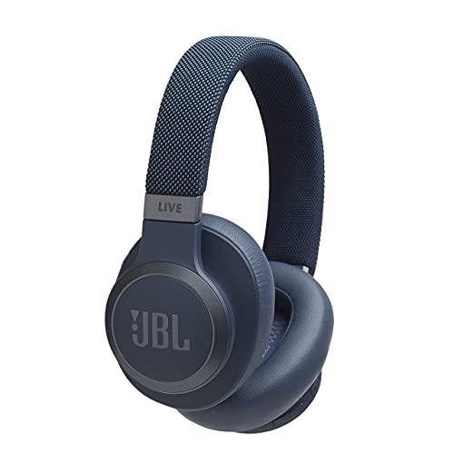 JBL LIVE 650BTNC - Kabellose Kopfhörer mit Bluetooth und Noise Cancelling, hochwertiger Sound JBL mit integriertem Sprachassistent, bis zu 30 Stunden Musik, weiß