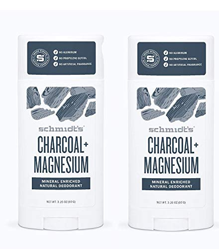 Schmidts Deodorant Charcoal Magnesium Deodorant 3.25 Once (2 Pack)