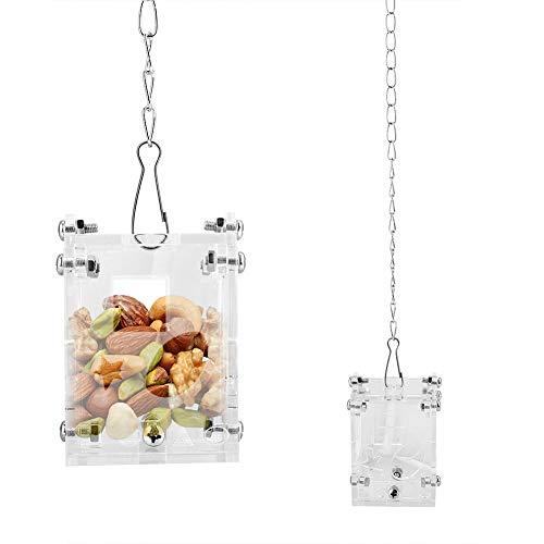 Acryl Papagei Haustiere Feeder Futterkorb Fütterung Puzzle Spielzeug Erdnuss Obst Gemüse Korb