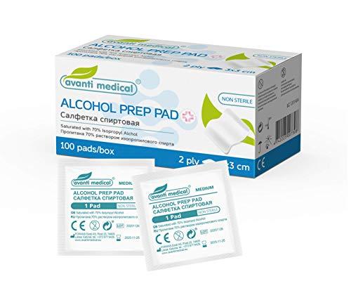 Avanti Medical Alkoholtupfer 100 stk. sterile Alcohol pads Tupfer Alkohol
