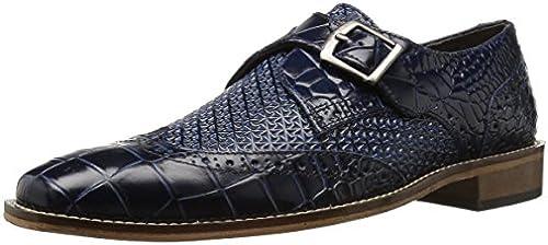 STACY ADAMS Men& 039;s Giannino-Monk Strap Wingtip Slip-On Loafer, Blau, 10.5 W US