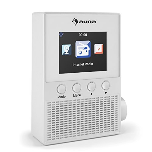 auna Digi Plug Radio Internet WLAN (Alarma, Control a través de aplicación, con encuche y Altavoz Integrado) - Blanco