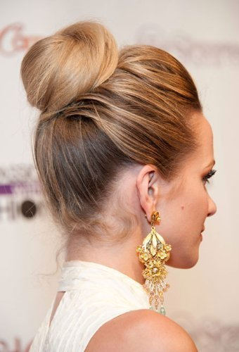 BUN UP DO SIDE BUN BALLERINA BUN STRAWBERRY BLONDE MIX TIGHT OF MESSY OF EVEN TOP Knot M2