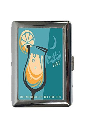 Zigarettenetui Box Plakat Motiv Cocktail Liste Bedruckt Küchenmotiv