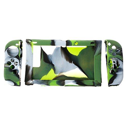 Runrain Lot de 1 Coque de Protection en Silicone pour Nintendo Switch Host + contrôleur LR