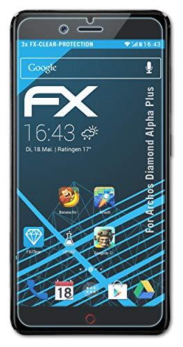 atFolix Schutzfolie kompatibel mit Archos Diamond Alpha Plus Folie, ultraklare FX Bildschirmschutzfolie (3X)