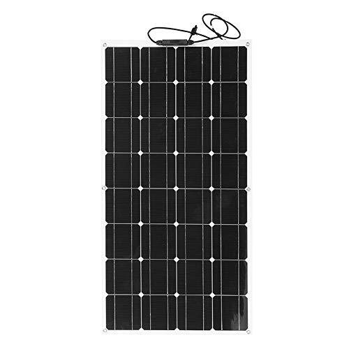 Garsent Monokristallijn zonnepaneel, flexibel zonnepaneel 18 V 100 W, ultralichte oplader op zonne-energie voor buiten voor campers, boten, cabines, tenten, auto's