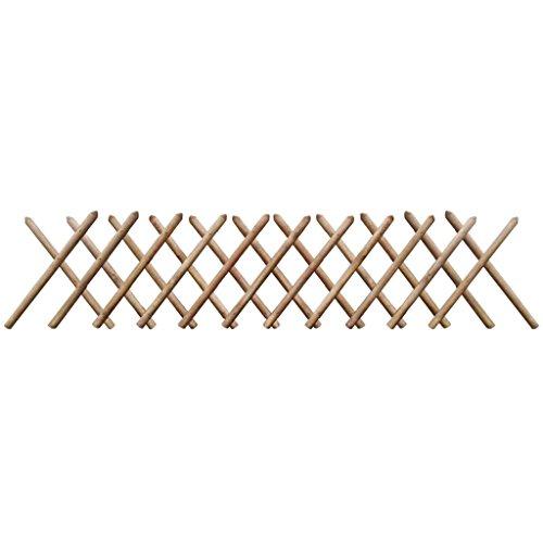 Tidyard- Jägerzaun 250 x 100 cm Imprägniertes Holz Erweiterbar Hunter Fence Garden Fence Decorative Fence friezes Fence slatted Fence