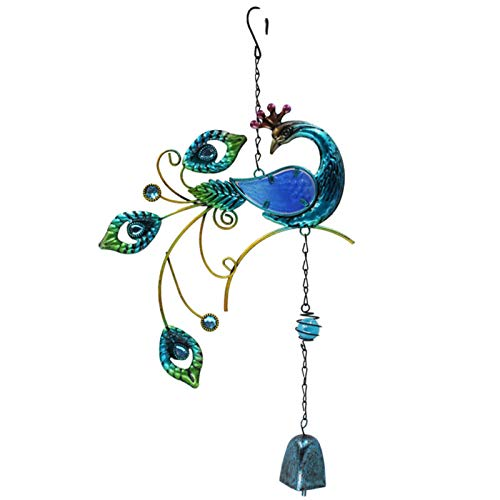 Creative Metal Wind Chimes Ornaments, Peacock Glass Painting Peacock Wind Chimes with Clear and Bright Collision Sounds and Clear Rhythms, Wind Chimes for Patio Courtyard Balcony Gift