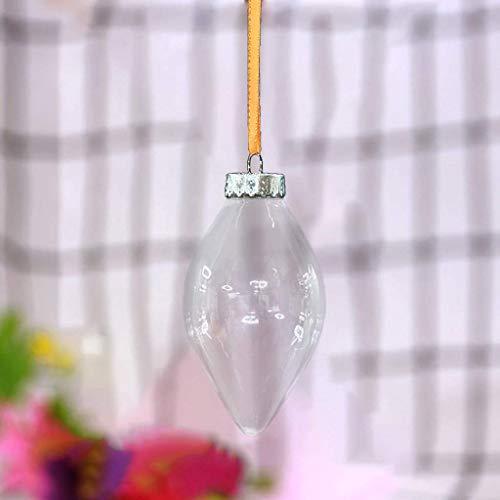 Xiongz Decoración de Navidad transparente DIYT Ball Festival colgante regalo hueco bola (color: D)