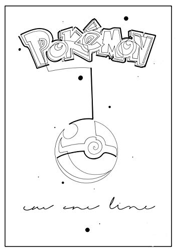 ARTBOOK - One Line Pokémon (One Line Animes 1) (English Edition)