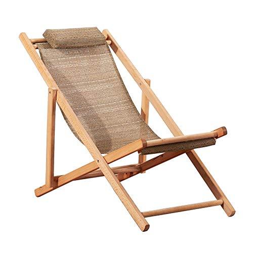Bedframe Verstelbaar Opklapbed Campinguitrusting Twin Bedframe Zero Gravity Chair Lounge Chair Outdoor Seating-Elm Klapstoel/Balkonstoel/Draagbaar (Color : Brown)