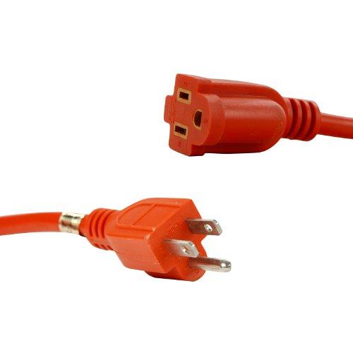 Sunlite 04205-SU EX50/16/3/HD/O Outdoor Heavy Duty 50-Feet Extension Cord, Orange