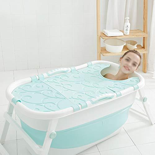 CHICTI Tragbares Faltbad, Erwachsenen Haushalt Badewanne Kompressibler Privater Pool Praktisch Platzsparend Mit Deckel
