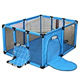 RUNWEI Babyspielzaun Heimspielzaun/Krabbeldecke/Ballhöhe 62 cm Größe Optional (Color : Blue, Size : 120×100×62cm)