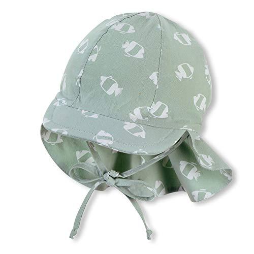 Sterntaler Baby-Jungen m 1612131 Schirmmütze mit Nackenschutz, hellgrün, 49