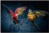 美しいオウムキャンバス絵画スカンジナビアの壁アート動物のポスターとプリントモダンなリビングルームの寝室の壁の装飾の写真40x60cmフレームなし