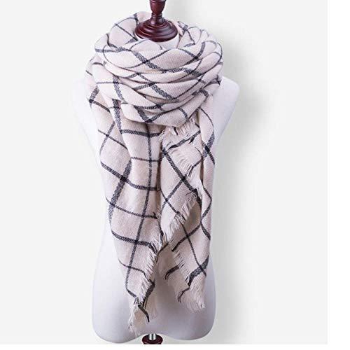A-HXTM Schal Schal Winter Schal Schal Für Frauen MännerDicke Warme Strickring Schal Schal Drucken Halstücher Baumwolle Weich G