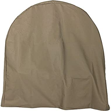 Sunnydaze Firewood Log Hoop Cover ONLY, Heavy Duty Outdoor Waterproof and Weather Resistant, 40 Inch, Khaki
