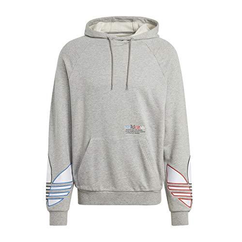 Adidas TRICOL Hoody Sweat, Medium Grey Heather, XS Mens