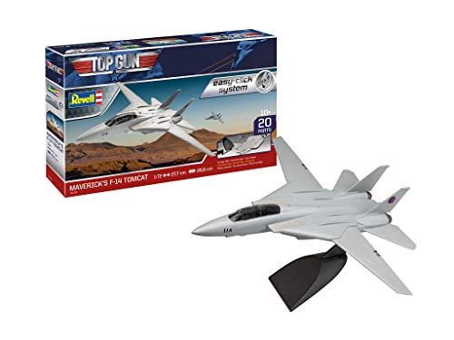 Revell-F-14 Tomcat Top Gun Juego de construcción Fiel al Original para Principiantes, con Sistema Easy Click, Color Coloreado (RV04966)