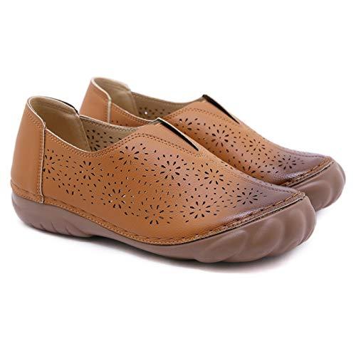 Sandalias de las señoras, zapatos planos de látex de las mujeres, retro de punta redonda de top de alto tamaño Sandalias, zapatillas, zapatos planos antideslizantes |Zapatos de playa: zapatos de plata