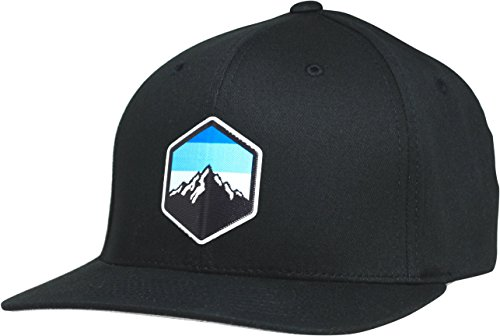 LINDO Flexfit Pro Style Hat - Mountain Sky (Black-l/XL)