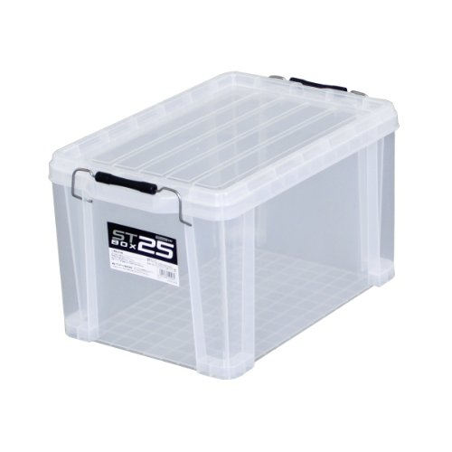 JEJアステージ 収納ボックス 日本製 STボックス #25 積み重ね クリア [幅29.5×奥行44.3×高さ26cm]