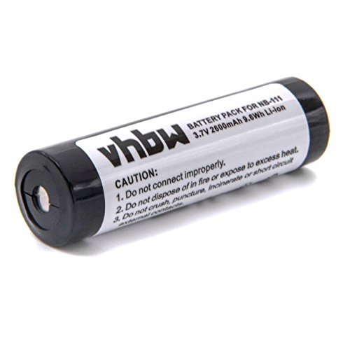 vhbw Akku 2600mAh (3.7V) für Player Sharp MD-CS100, MD-MS100, MD-MS200, MD-SS70 wie BP-1600R, AD-MS10BT, NB-111, NB111.