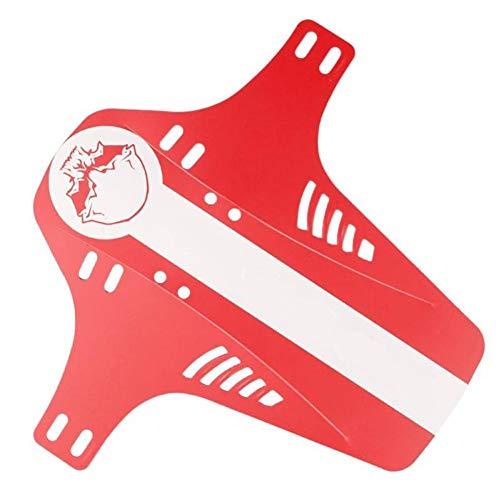 SHOP YJX Guardabarros para bicicleta delantero y trasero para bicicleta (color: rojo)