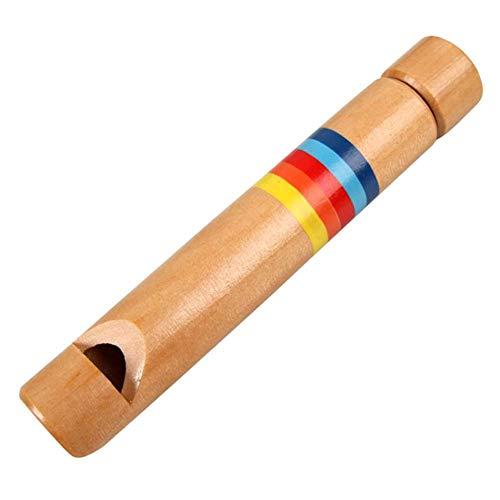 Abilieauty 1pza Infantil de Madera Flauta Silbato Instrumento Musical Juguetes Educativos para Niños