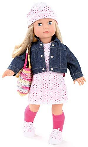 Götz 1490366 Precious Day Girls Jessica Color&Lace Puppe - 46 cm große Stehpuppe, Blonde Lange Haare, Blaue Schlafaugen - 10 teiliges Set