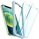 Spigen AlignMaster Vetro Temperato Compatibile con iPhone 12 Mini, 2 Pezzi, Resistente ai Graffi, Durezza 9H Pellicola prottetiva