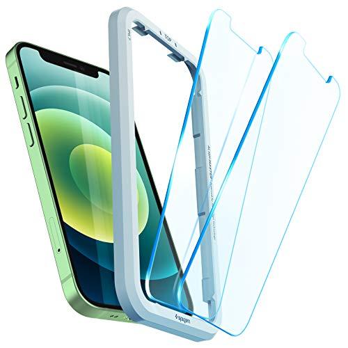 Spigen AlignMaster ガラスフィルム iPhone 12 Mini 用 ガイド枠付き iPhone12 Mini 用 保護 フィルム 2枚入
