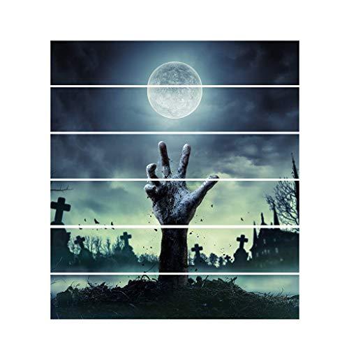 LQH 6pcs / Set de Halloween El escapa Pegatina extrable Etiqueta de la Escalera