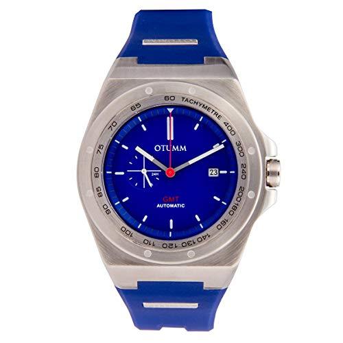Otumm AUB002 - Orologio unisex da polso in acciaio inox, 45 mm, colore: Blu