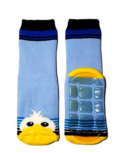 Weri Spezials Baby & Kinder Socke mit ABS 'Ente' Hellblau/Marine, Größe:23/26, Farbe:hellblau/marine