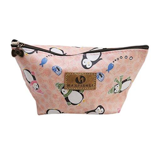 ODN Pinguin Schminkbeutel Kosmetik-Tasche Täschchen Federmappe Geschenk Beutel Mädchen