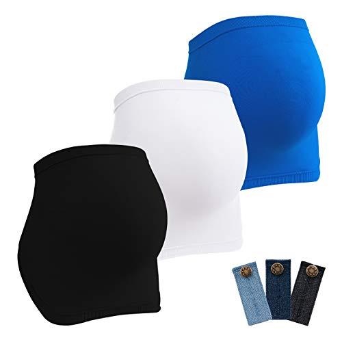 HBselect 3er Bauchband für Schwangere nathlose atmungsaktive Schwangerschaft Stütz Umstands-Bauchbänder elastische stützend Schwangerschaftsgürtel keinen Druck Bauchstütze