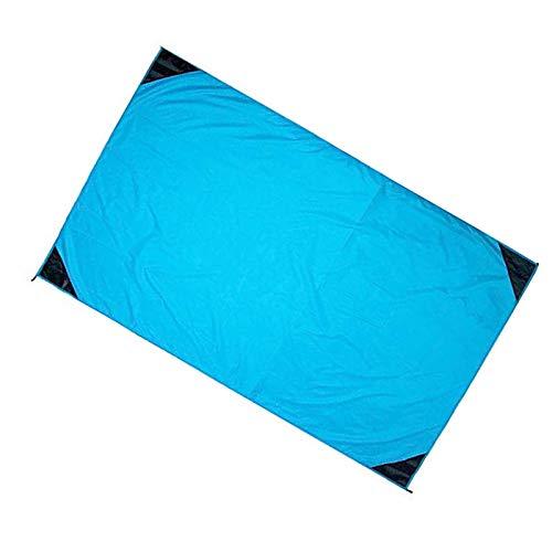 HUI JIN Manta de playa de nylon al aire libre Picnic impermeable arena prueba portátil Mat perfecto azul