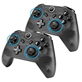 EEEKit 2 Packs Wireless Pro Gaming Controller, Gamepad Joypad Remote Console for PC Windows 7/8/10, Nintendo Switch & Switch Lite, w/USB Type C Charging (Newest Version 7.0.0)