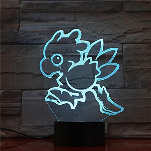 Final Fantasy 3D Lampe Figuren Chocobo Fisch Nachtlicht Led Birne Multicolor Kinder Geschenk Kid Toy Lava Touch Rgb